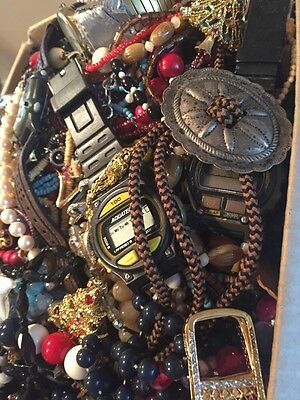 Big 15 LB Pound Junk repair craft Jewelry Lot