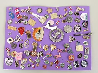 Large Collection of about 80 lapel Pins.