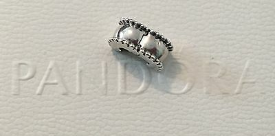 Genuine Pandora Whisper Scallop Edge Clip Charm