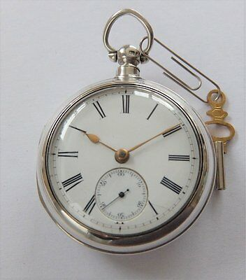 1885 Silver Pair Cased Fusee Pocket Watch James Smith Brantown In Working Order