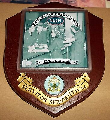 NAVY ARMY AIR FORCE INSTITUTE/ NAAFI Veteran Wall Plaque personalised.