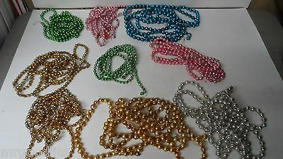 855 Inches of Old Glass Bead Chrtistmas Garland