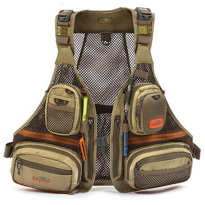 New Fishpond Sagebrush Mesh Fishing Vest In Driftwood -- Free U.s. Shipping