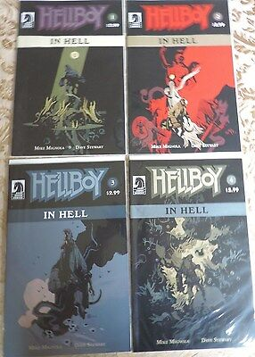 Hellboy #1 #2 #3 #4 In Hell By Mike Mignola Of Batman - 4 Book Nm Comic Lot #6