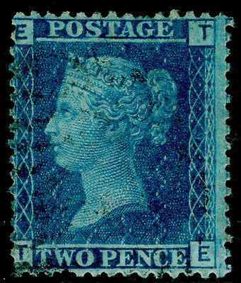 Sg45, 2d blue plate 9, used. Cat £14. TE