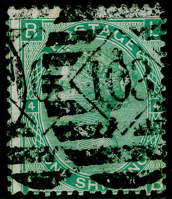 Sg117, 1s green plate 4, used. Cat £60. LB