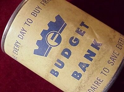 FRIGIDAIRE BUDGET BANK~ VINTAGE Small ADVERTISING Cardboard Bank