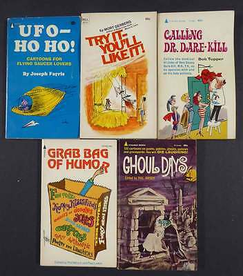Collection Of 9 Gag Cartoon Paper Back Books 1956–1974