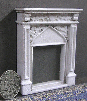 """HALF  SCALE ~  1/2""""  scale~  FIREPLACE ~~Dollhouse~ Distressed ~ 1/24 ~ Room Box"""