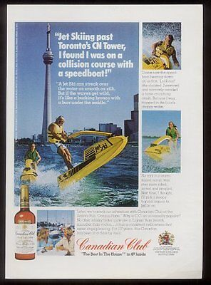 1976 Toronto CN tower photo Canadian Club whisky ad