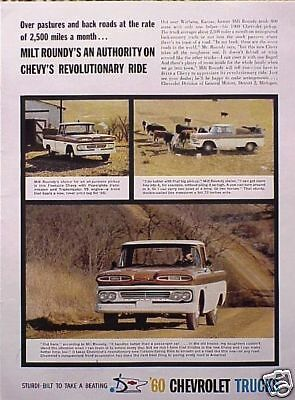 1960 Chevy Pickup Truck ORIGINAL OLD AD   5+= FREE SHIP