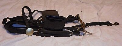 DURABLE - COMPLETE Leather Horse SHOW Bridle - Pony Sized - Patent Leather - NR