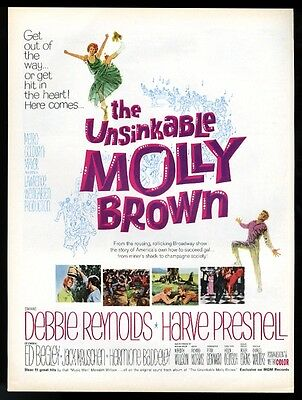 1964 Debbie Reynolds photo The Unsinkable Molly Brown movie release print ad