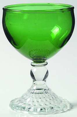 Anchor Hocking BUBBLE FOOT GREEN Liquor Cocktail Glass 5680