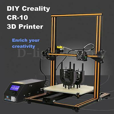 DIY Creality CR-10 3D Printer 300*300*400mm Printing Size 1.75mm 0.4mm Nozzle