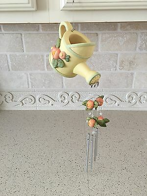 Vintage Mary Engelbreit (Retired) 5003 Watering Can with Flowers Wind Chime/ BNI