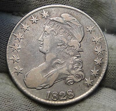 1828 Capped Bust Half Dollar 50 Cents - Nice Coin Free Shipping (4870)