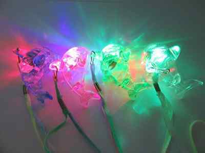 64Pcs Flashing Dolphin Necklaces For Disco Party Mixed