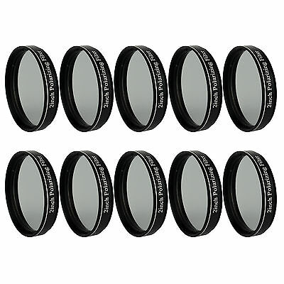 "10x New 2"" Polarizing Filters No.3 for 50.8mm Telescope Eyepiece w/ Plastic Case"