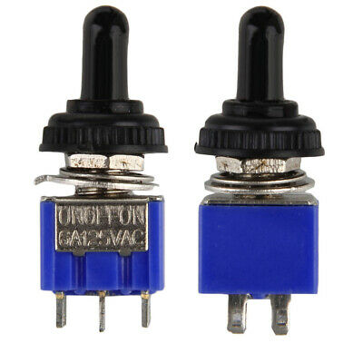 MTS203 AC ON / OFF / ON 3 DPDT Position Toggle Switch Waterproof 1pc