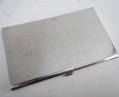 Sterling Silver 925 'CSS Trident Honours 1994' Card Case - Hallmarked