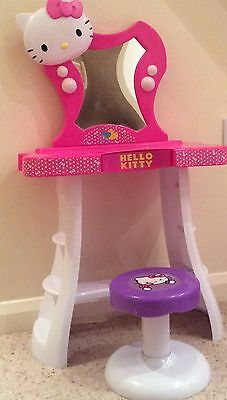 Hello Kitty Dressing Table And Stool with Original Box