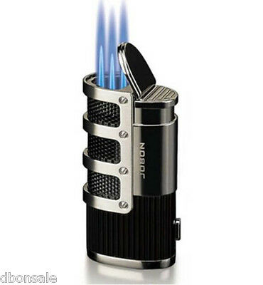 Triple Torch Flame Cigar Cigarette Lighter Butane Gas Jet Torch Lighter hot