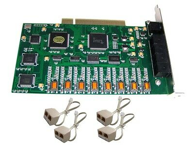 PC Desktop PCI 8 channels Ports Phone Telephone Call System Voice Recording Card