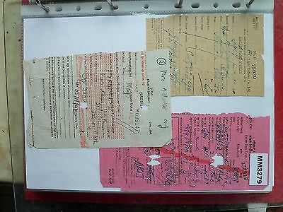 M3279 India 3 Various Rail Ticket/s. **