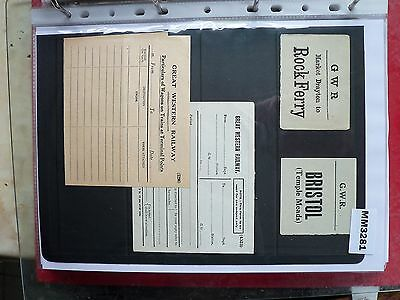M3281 UK 4 GWR Rail Ticket/s. Baggage, Forms