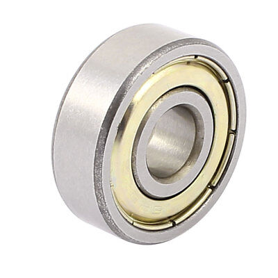 Metal Mute Deep Groove Sealed Shielded Ball Bearing Silver Tone 8mmx24mmx8mm