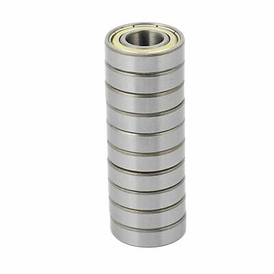 10pcs Metal Deep Groove Sealed Shielded Ball Bearing Silver Tone 10mmx22mmx6mm