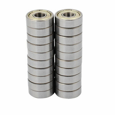 Metal Shielded Sealed Low Speed Deep Groove Ball Bearing 7mmx19mmx6mm 20pcs