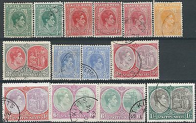 e216) St. Kitts/Nevis.1938/50. Used. Small Collection.  c£35+