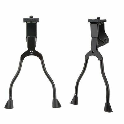 Chic 1PCS Double Leg Center Mount Stand Bicycle Bike Kickstand Adjustable Black