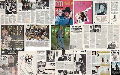 SIMPLY RED : CUTTINGS COLLECTION -adverts interviews etc-
