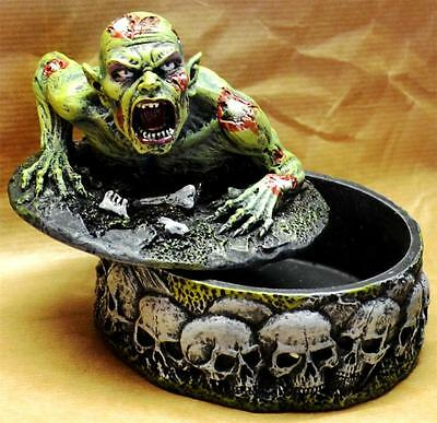 Nemesis Now Gruesome Gothic RISING ZOMBIE TRINKET BOX Change Stash Undead Skull