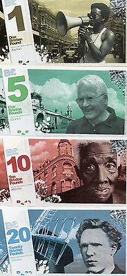 Rare Complete Set Of First Series Brixton/london £20 £10 £5 £1 Notes Unc