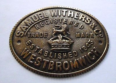 Samuel Withers & Co.  - West Bromwich / Est 1845 / Safe Plate