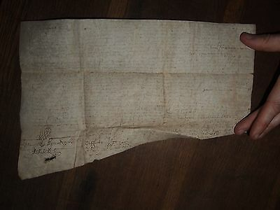 1633 Vellum Document From Reign Of King Charles I