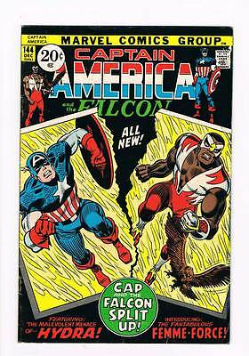 Captain America # 144  The Femme-Force grade 5.5 scarce hot book !!