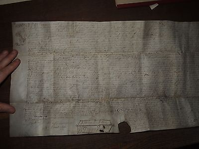 1690 VELLUM DOCUMENT FROM REIGN of WILLIAM of ORANGE AND MARY