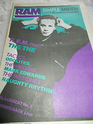 Simple Minds - Ram -Oz Music Mag -1986-#296 - Rem - The The -Tactics-Wreckery