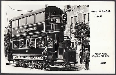 Hull Tramcar No 33.  Reproduction Postcard  Unposted  (117)