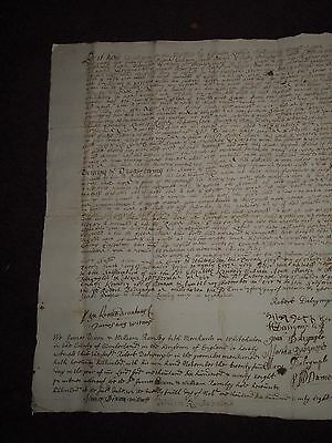 1698 LEGAL DOCUMENT - KENNEDY & MUIR MAYBOLE SCOTLAND WILLIAM of ORANGE AND MARY