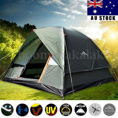 Portable 4 Person Tent Auto Pop Up Camping Double-layer Waterproof Dome Shelter