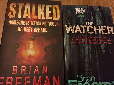 2 X Brian Freeman Books Stalked & The Watched