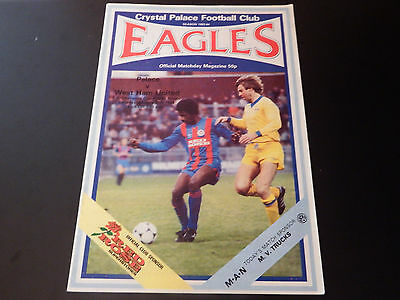 CRYSTAL PALACE v WEST HAM FA Cup Rd.4 1984