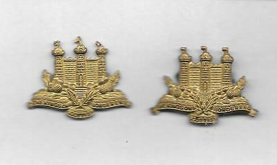King's Own Scottish Borderers Pair Of Collar Badges