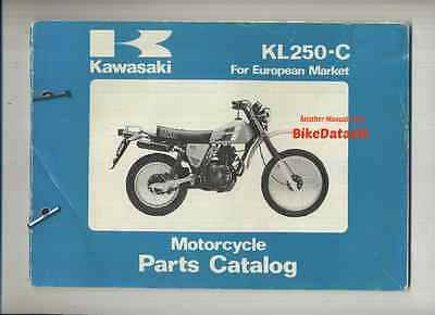 Genuine Kawasaki KL250-C1 (1983) Parts List Manual Catalogue Book KL 250 C